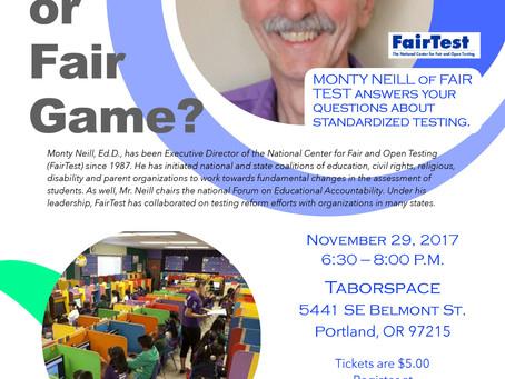 FairTest -- An Evening with Monty Neill