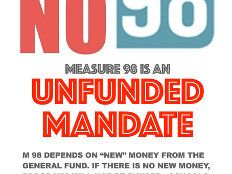 Measure 98 Is an Unfunded Mandate