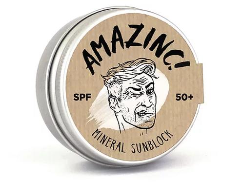 Amazinc baltos spalvos apsauga nuo saulės SPF+50