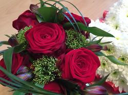 Heartfelt red rose