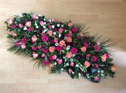 Large casket tribute