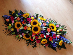Bright and Bold Casket Tribute