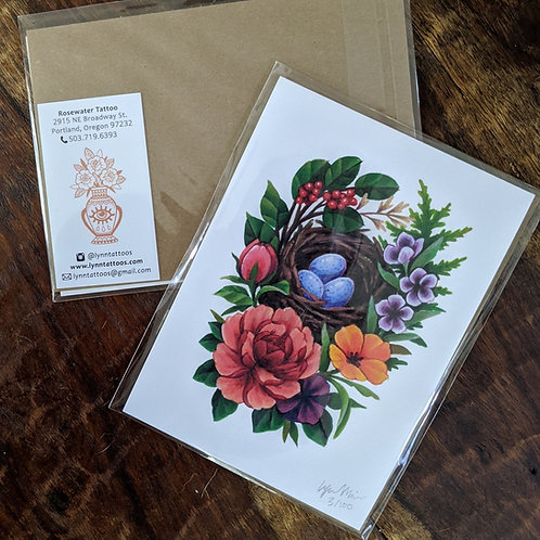 Bird Basket Print
