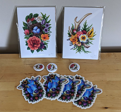 Print & Sticker Bundle (1 of each item pictured)