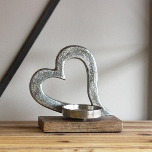 Gorgeous Aluminium and Wood Tlight Holder