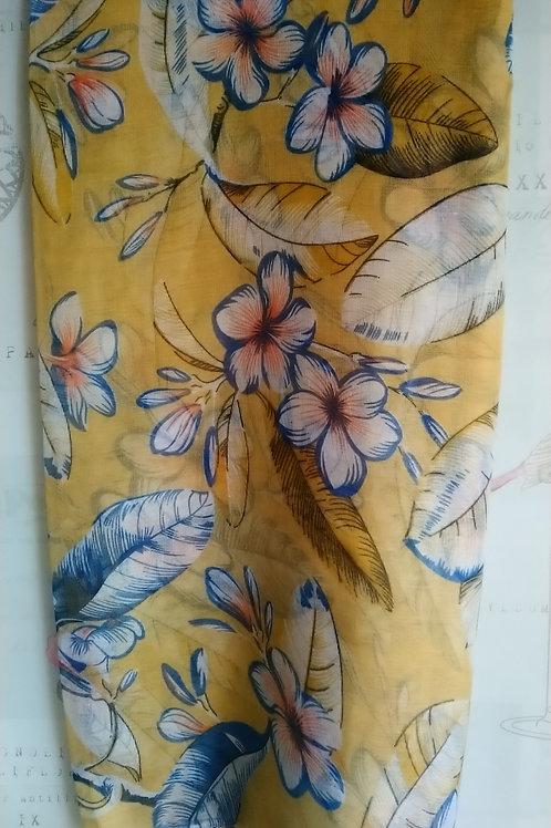 Pretty Tropical Flower Design Scarf