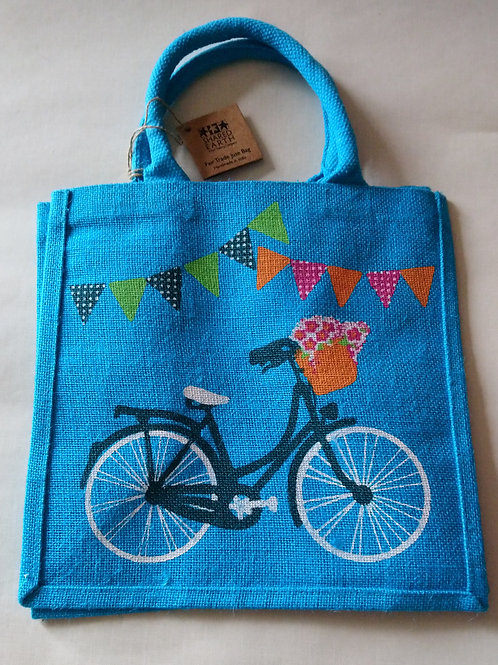 Shared Earth Bicycle Design Jute Shopper