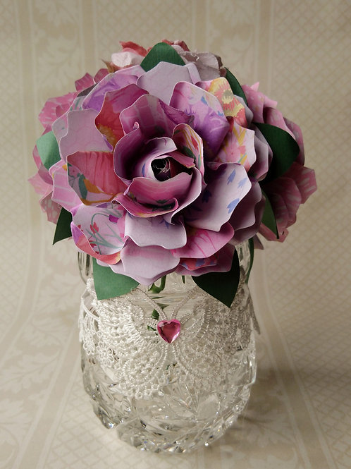 Beautiful Pink Rose Flower Arrangement