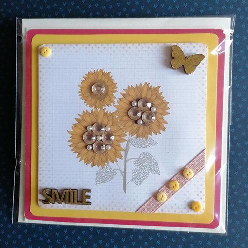 Sunflower Design Greeting Card