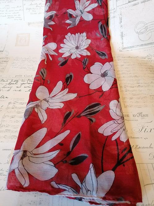 Floral Sketch Print Scarf