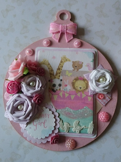 New Baby Girl  hanging decoration