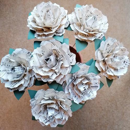 Beautiful Sheet Music Roses