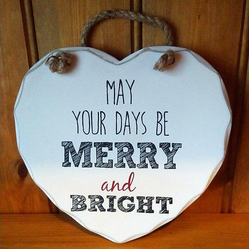 White Christmas Heart