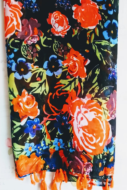 Bright & Beautiful floral Scarf