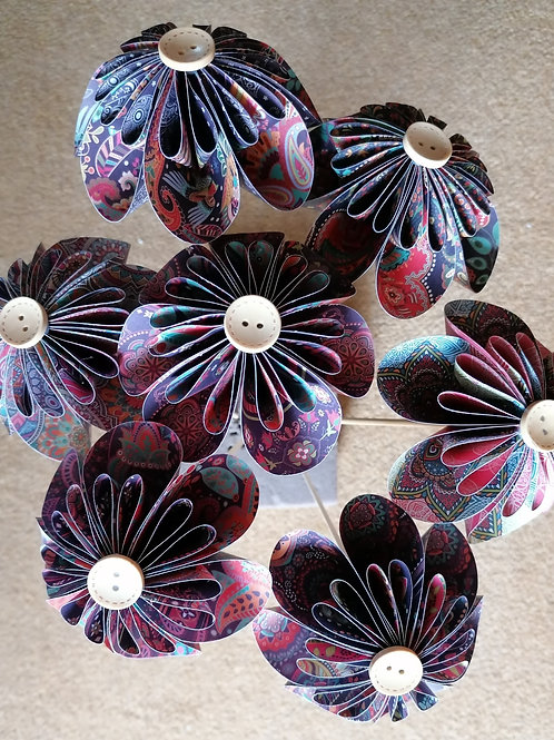 Vibrant Shades Round Kusudama Paper Flowers