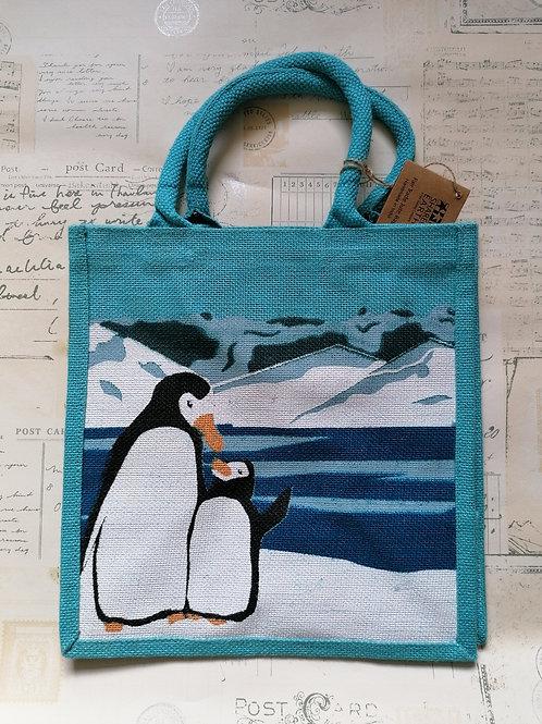 Cute Penguin Jute Shopper