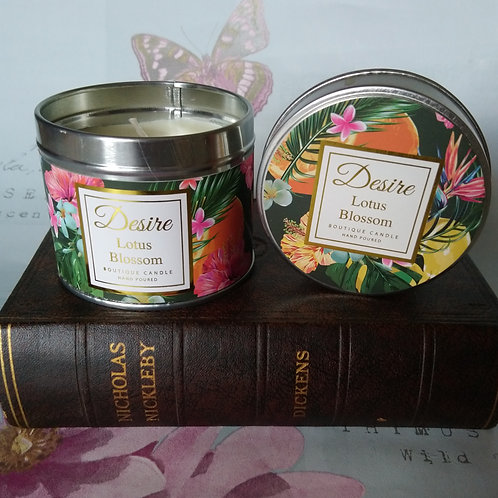 Lotus Blossom Fragranced Candle Tin