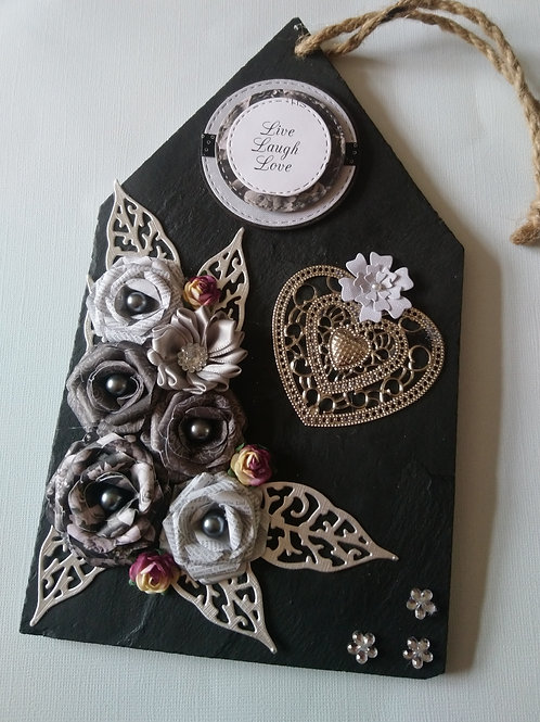 Gorgeous Slate Hanging Plaque