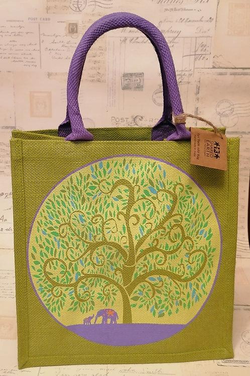 Shared Earth Tree of Life Jute Shopper