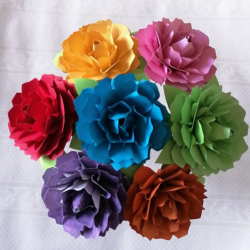 Rainbow Paper Rose Bouquet