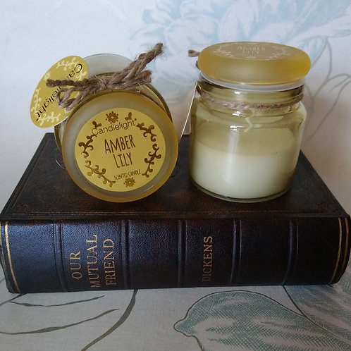 Amber Lily Small Jar Candle