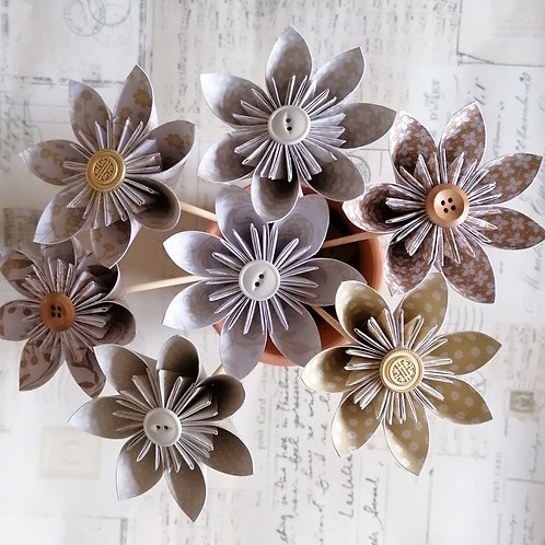 Neutral Shades Kusudama Flowers