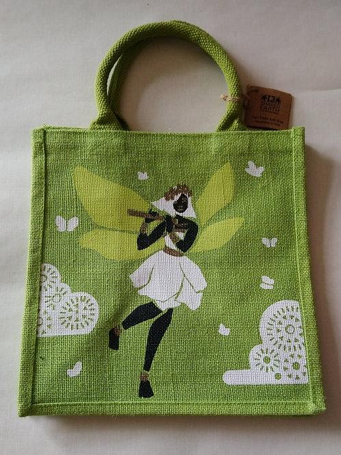 Shared Earth Fairy Design Jute Shopper