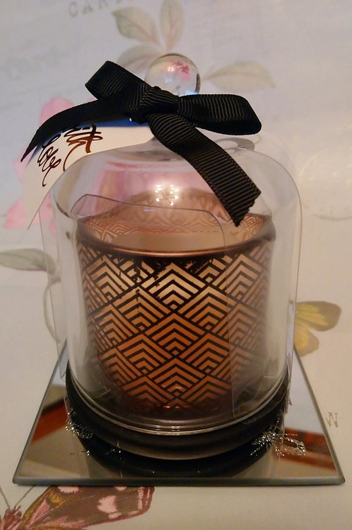 Art Deco Design Black and Gold Dome Candle