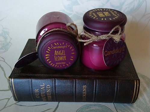 Angel Flower Small Jar Candle