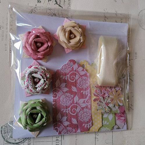 Cream Ribbon Gift Decoration Pack