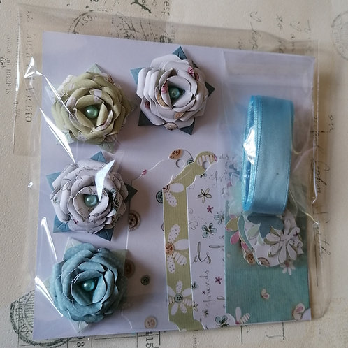Pale Blue Ribbon Gift Decoration Pack