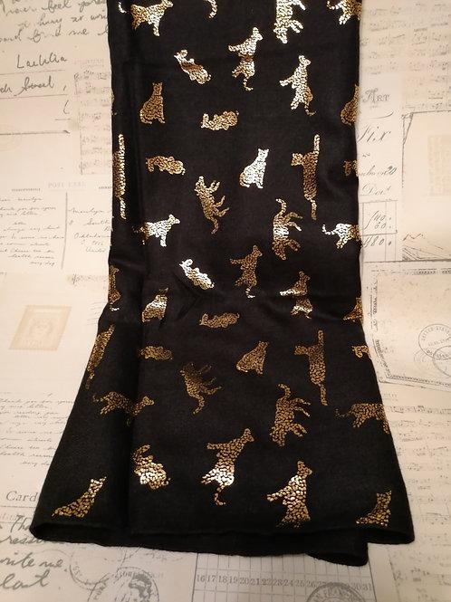 Gorgeous Foiled Leopard Print Scarf