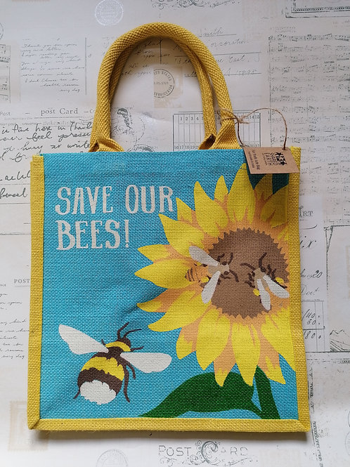 Save Our Bees Jute Shopper
