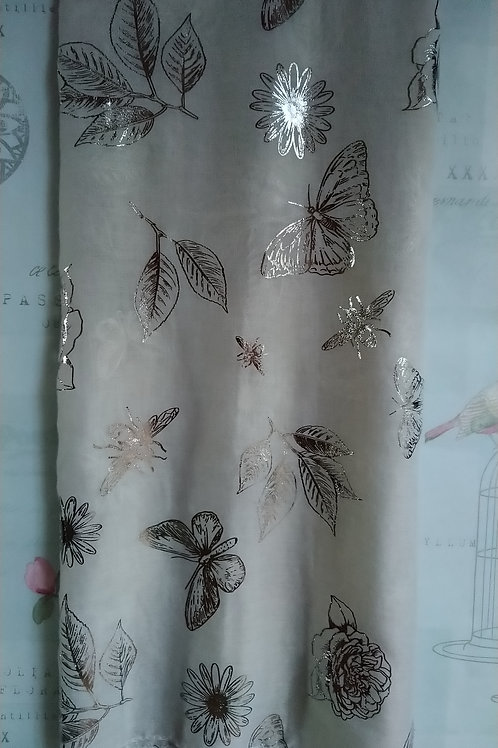 Beautiful Botanical Foiled Print Scarf