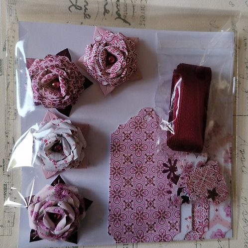 Burgundy Ribbon Gift Decoration Pack