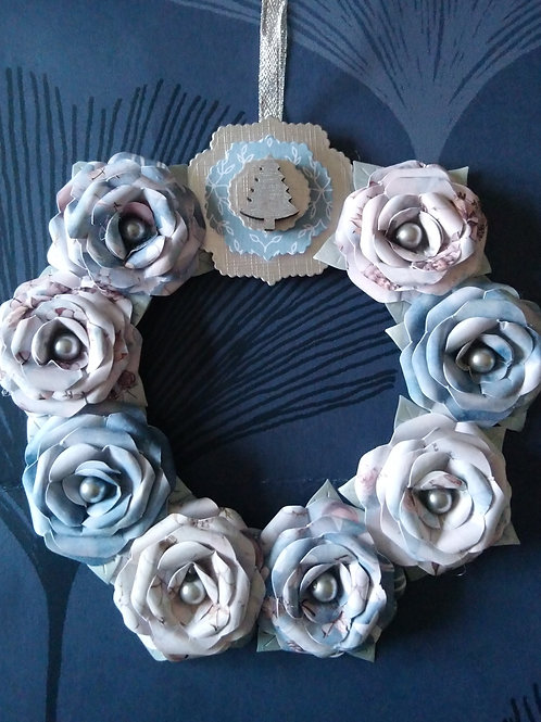 Mini Rose Christmas Wreath