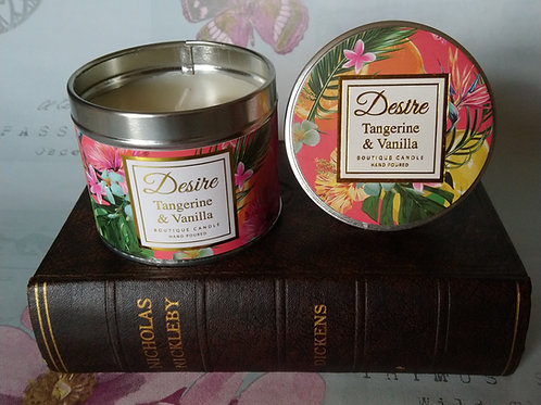 Tangerine and Vanilla Candle Tin