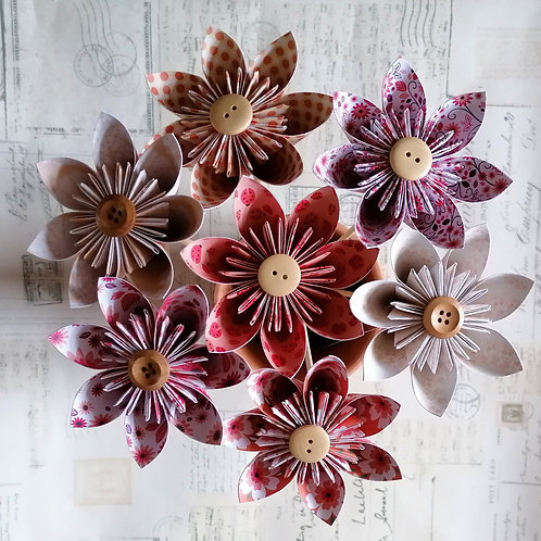 Peach and Orange Kusudama Flowers
