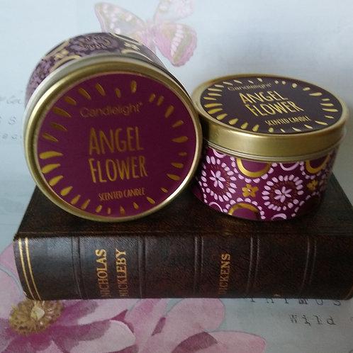 Angel Flower Bohemian Candle Tin