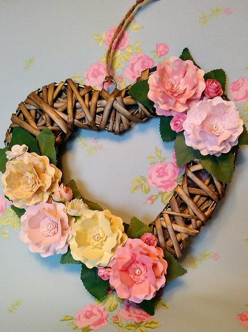 Decorated Wicker Heart