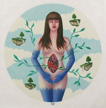 2020 Deep garden - oil on canvas - 62 x