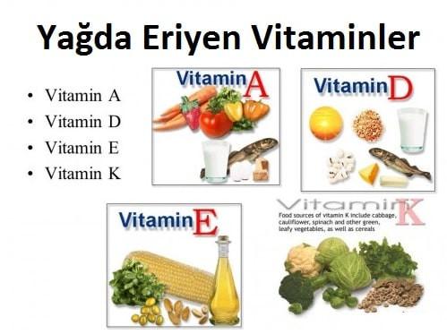 yağda eriyen vitaminler, mikro besin ögeleri