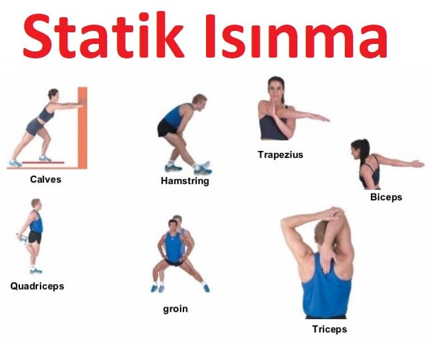 statik ısınma, statik egzersizler, statik esnetme