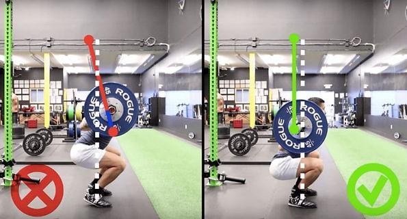 squat yaparken yapılan hatalar, squat yaparken yapılan yanlışlar, ağırlığı öne kaydırmak