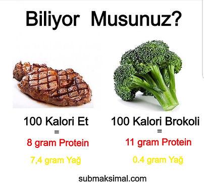 bitkisel proteinler ve hayvansal proteinler, brokoli et karşılaştırılmaı, bitkisel ve hayvansal gıdalar, bitkisel gıdalar mı hayvansal gıdalar mı