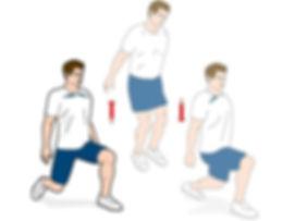 lunge, lunge çeşitleri, split lunge jump