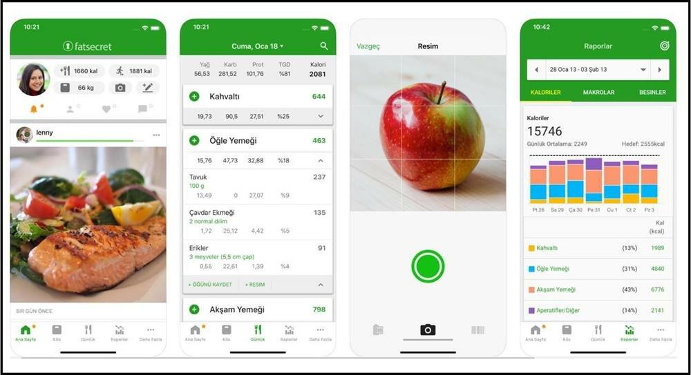 fatsecret kalori hesaplama, kalori hesaplama uygulamaları ios android