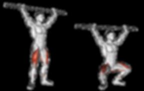 barbell overhead squat, overhead squat