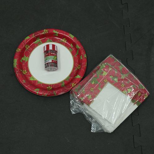 Assiettes, serviettes de table et cure-dents