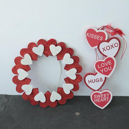 2 décorations de st-valentin